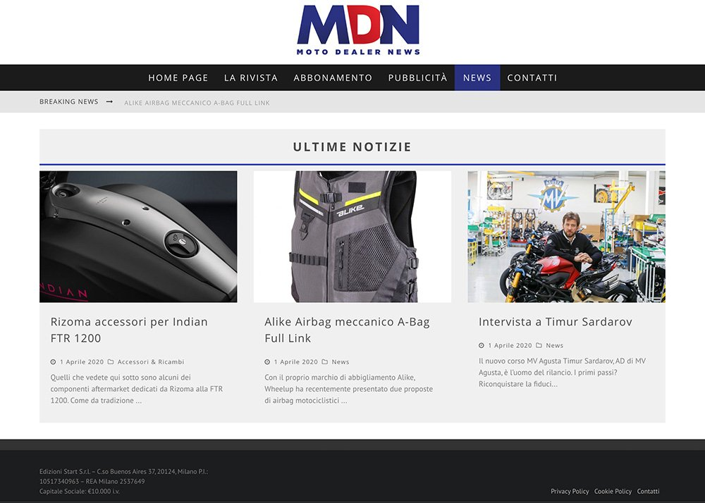 Moto Dealer News novità di settore