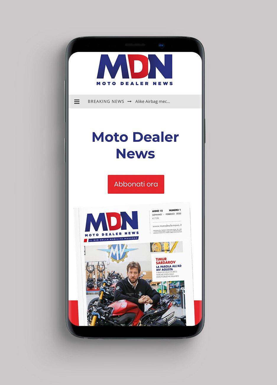 home page mobile rivista Moto Dealer News