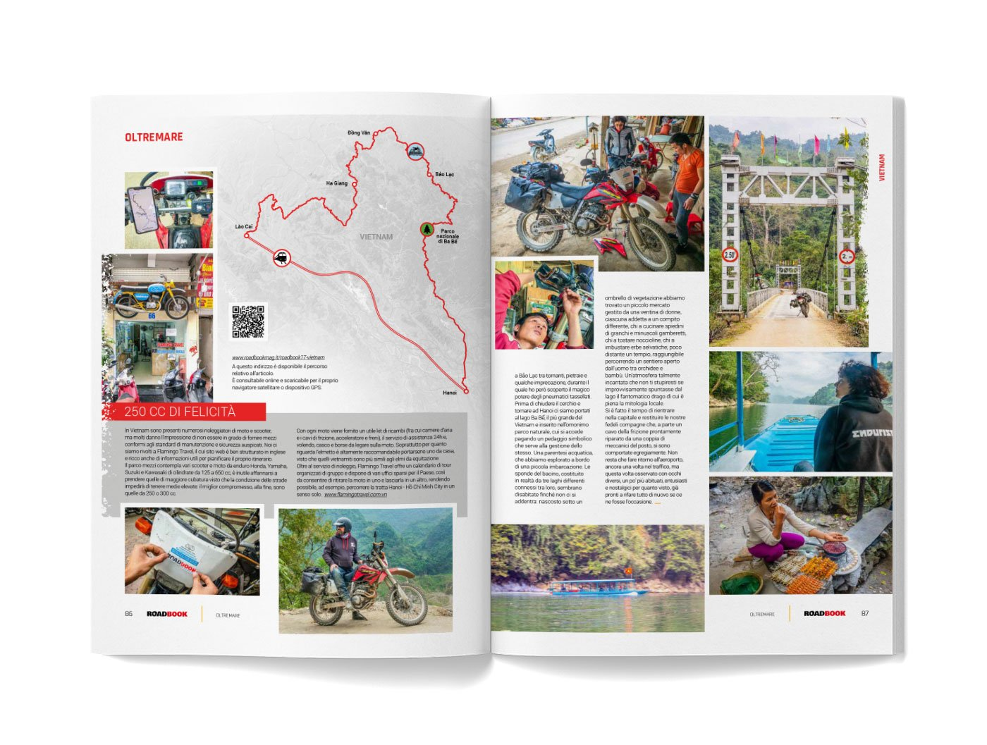 mappa e cartine con qrcode sulla Rivista RoadBook